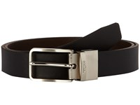 Tumi Printed Harness Reversible Belt Nickel Satin Reversible Men's Belts Black