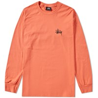 Stussy Long Sleeve Basic Tee Orange