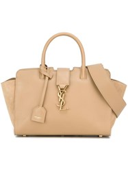 Saint Laurent Baby 'Cabas Monogram' Tote Nude And Neutrals