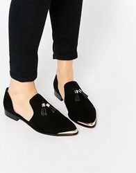 Asos Melody Pointed Flat Shoes Black