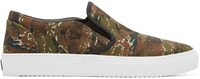 Marcelo Burlon Green Camo Pilar Slip On Sneakers