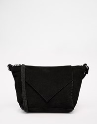 Asos Suede Festival Cross Body Bag Black