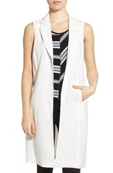 Women's Vince Camuto Long Vest New Ivory