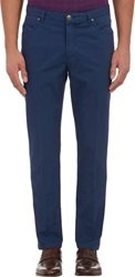 Luciano Barbera Lightweight Twill Jeans Blue Size 36