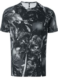 Versus Palm Tree Print T Shirt Grey