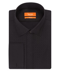 Tallia Orange Slim Fit Tonal Diamond Print Dress Shirt Black