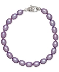 Honora Style Violet Cultured Freshwater Pearl Bracelet In Sterling Silver 7 8Mm