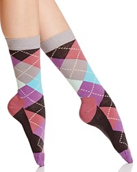 Happy Socks Pastel Argyle Crew Gray Pink