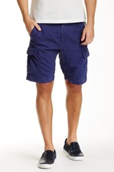 Robert Graham Hiker Linen Blend Cargo Short Blue