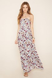 Forever 21 Floral Tie Back Maxi Dress
