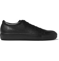 Acne Studios Adrian Grained Leather Sneakers Black