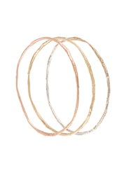 Alice Waese Set Of Thin Bangles Pink And Purple