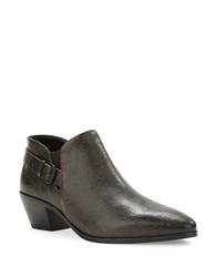 Elie Tahari Pacifico Textured Leather Ankle Boots Black