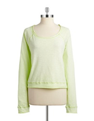 Kensie Lounge Long Sleeve Top Lime Punch