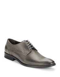 Kenneth Cole Measure Up Textured Leather Oxfords Grey