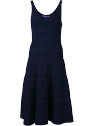 Ralph Lauren Black Label Ralph Lauren Black Scoop Neck Dress Blue
