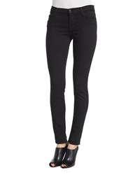J Brand Jeans Mid Rise Super Skinny Ankle Jeans Seriously Black Size 31