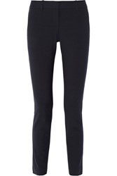 Theory Louise Stretch Crepe Skinny Pants Blue