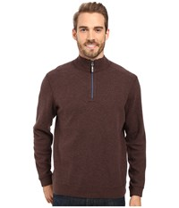 Tommy Bahama Reversible New Flip Side Pro 1 2 Zip Old Oak Heather Men's Clothing Brown
