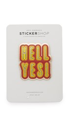 Anya Hindmarch Hell Yes Sticker Pale Gold Metallic