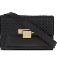 Kurt Geiger Annie Leather Belted Bag Black