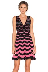 M Missoni Deep V Halter Dress Pink