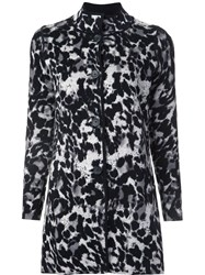 Belford Animal Print Buttoned Coat Black