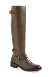 Enzo Angiolini 'Sayin' Leather Riding Boot Gray