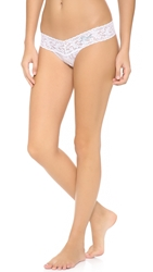 Hanky Panky Mrs Low Rise Thong White Baby Blue