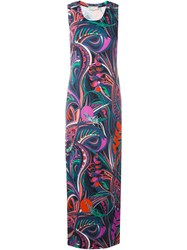 Emilio Pucci Long Printed Tank Dress Multicolour