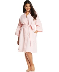 Charter Club Plus Size Waffle Knit Robe Pretty Pink