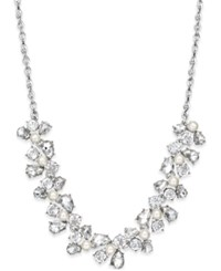 Charter Club Silver Tone Crystal Garland Collar Necklace Only At Macy's