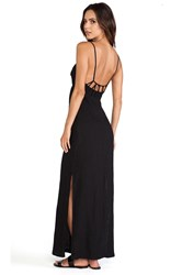 Solow So Low Loop Back Maxi Dress Black