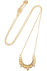 Pamela Love Mini Tribal Spike Gold Plated Topaz Necklace