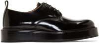 Carven Black Leather Flatform Derbies