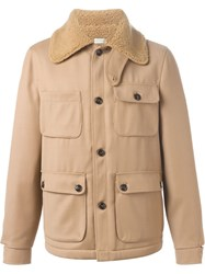 People People Lined Aviator Jacket Nude And Neutrals