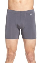 Men's Naked 'Luxury' Micromodal Boxer Briefs Grey