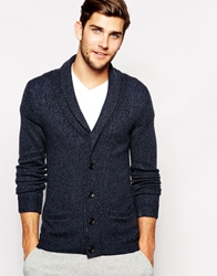 Abercrombie And Fitch Cardigan With Shawl Neck Navy
