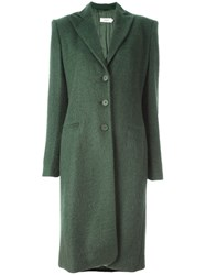 Gigli Vintage Button Front Long Coat Green