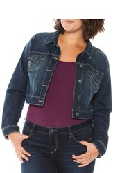 Plus Size Women's Slink Jeans Crop Denim Jacket Sherry