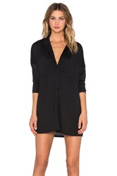Nytt Long Sleeve Button Up Dress Black