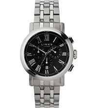 Links Of London Richmond Stainless Steel Black Dial Chronograph Watch