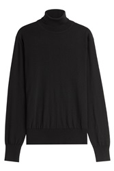 Jil Sander Fleece Wool Turtleneck Black