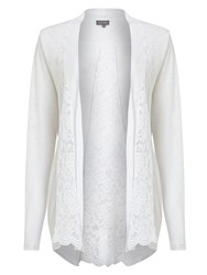 Phase Eight Lace Linen Cardigan White