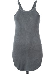 Lost And Found Rooms Curved Hem Tank Top Grey