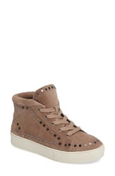 Marc Fisher Women's Ltd Sierre Studded High Top Sneaker Taupe Suede