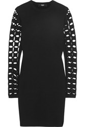 Versus By Versace Cutout Knitted Mini Dress Black