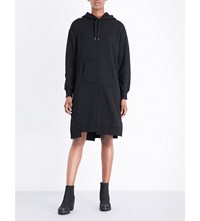 Izzue Asymmetric Cotton Blend Dress Black