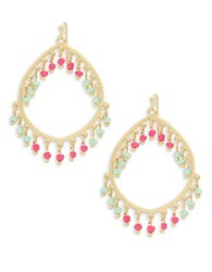 Robert Rose Beaded Teardrop Earrings Multi