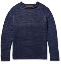The Elder Statesman Marl Cashmere Sweater Blue